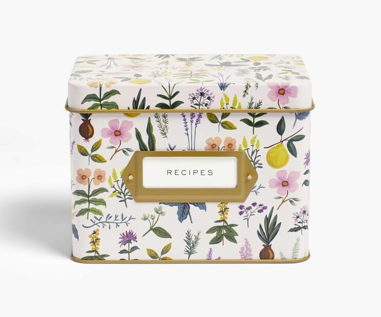 Herb Garden Recipe Tin