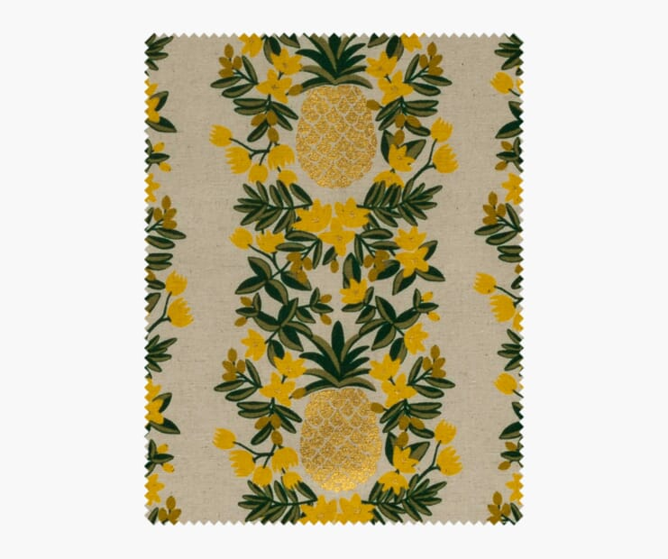 Pineapple Stripe Cream Metallic