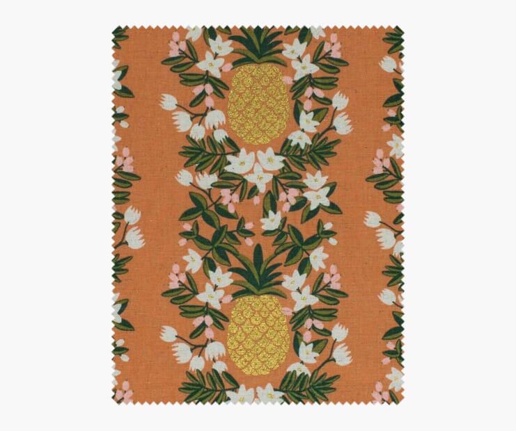Pineapple Stripe Peach Metallic