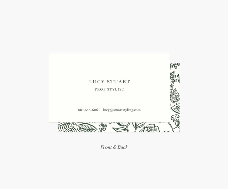 Frame Personalized Business Cards- Colette Evergreen