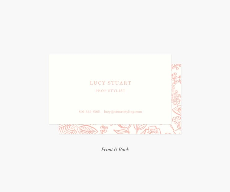 Frame Personalized Business Cards- Colette Blush