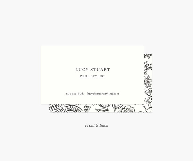 Frame Personalized Business Cards- Colette Charcoal