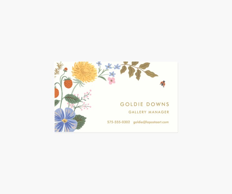 Personalized Business Cards- Strawberry Fields