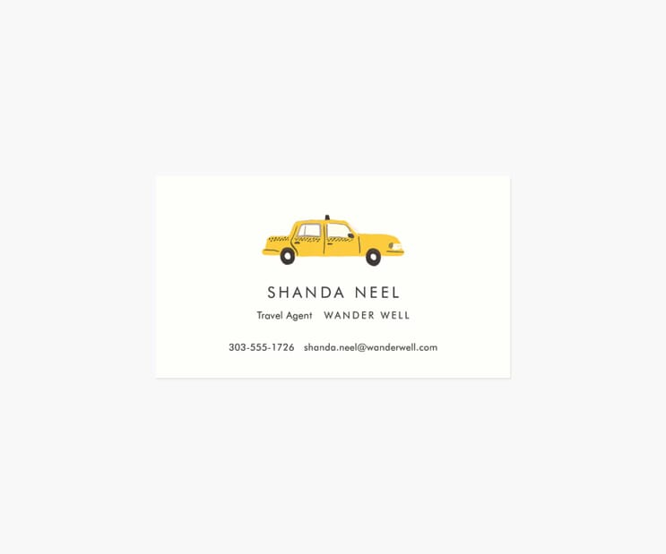 Personalized Business Cards- Yellow Cab
