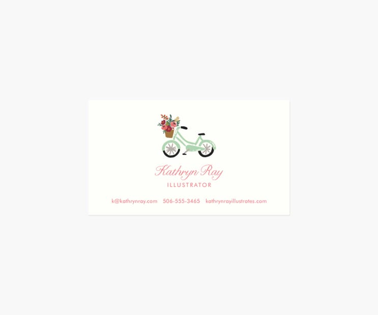 Personalized Business Cards- Bicycle