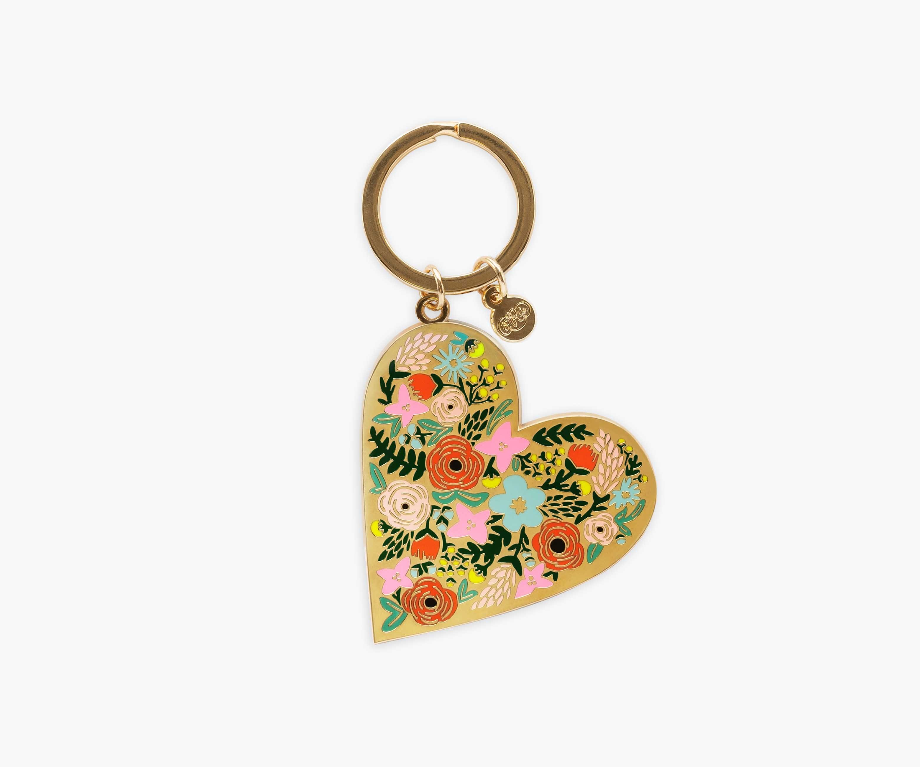 Custom Keychain for woman Floral Gold Key Lanyard Gift for Her Key Fob Wristlet Rifle Paper Co Personalized Wristlet Keychain