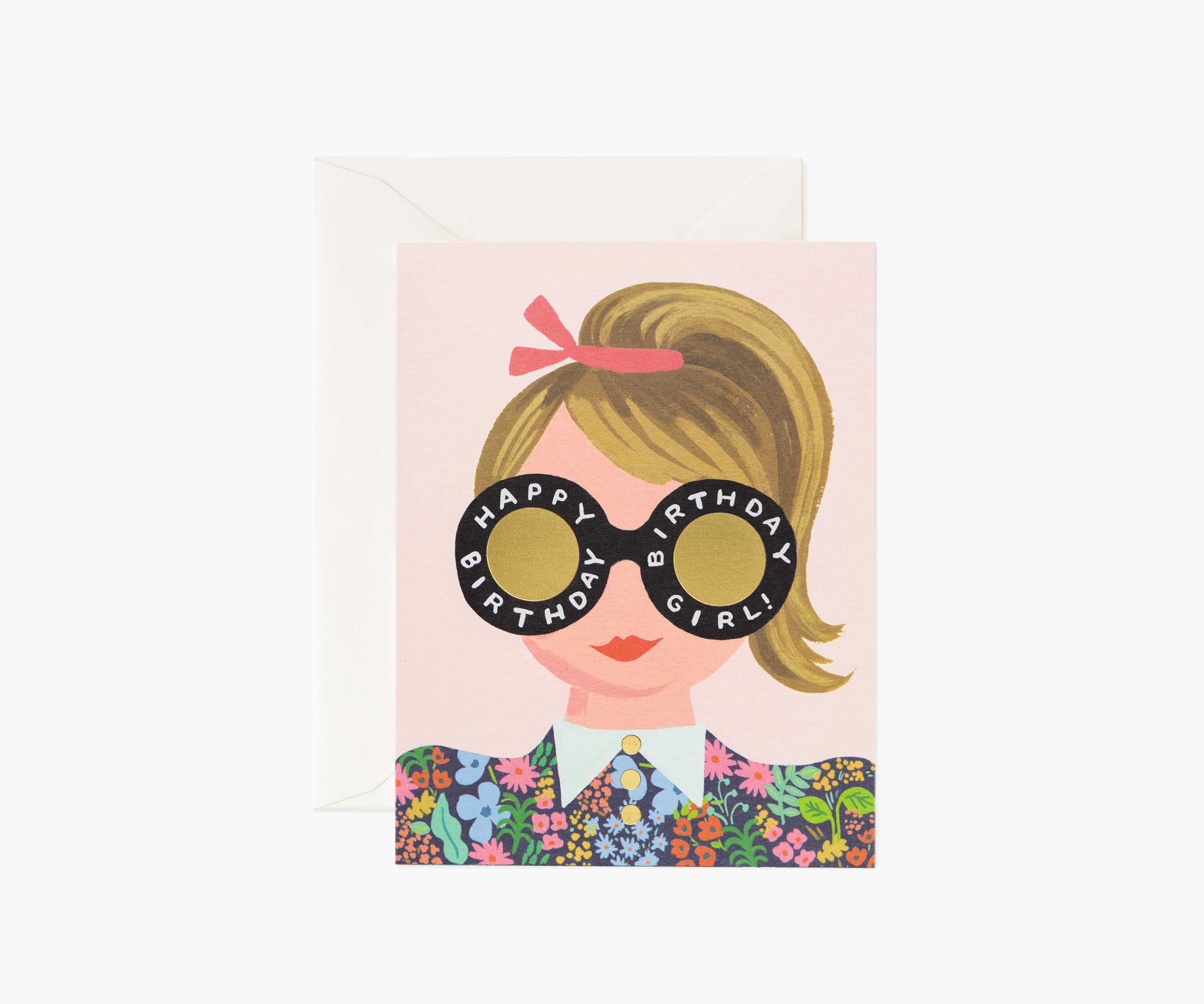 Birthday Girl Greeting Card Birthday Boy Note Card