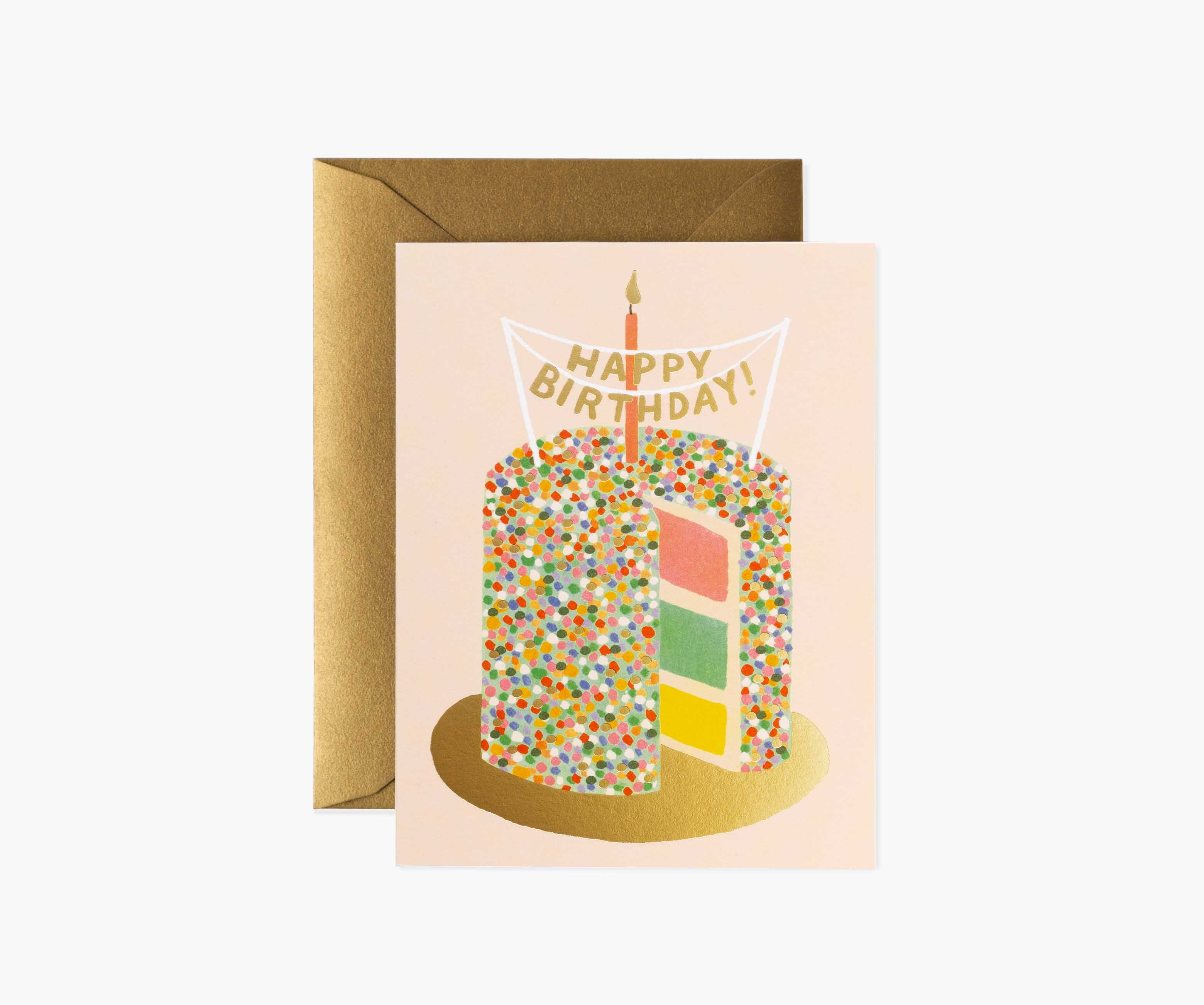 layer cake birthday card  rifle paper co