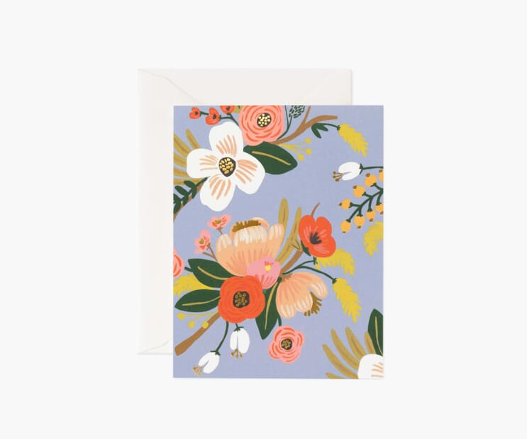 Lively Floral Periwinkle