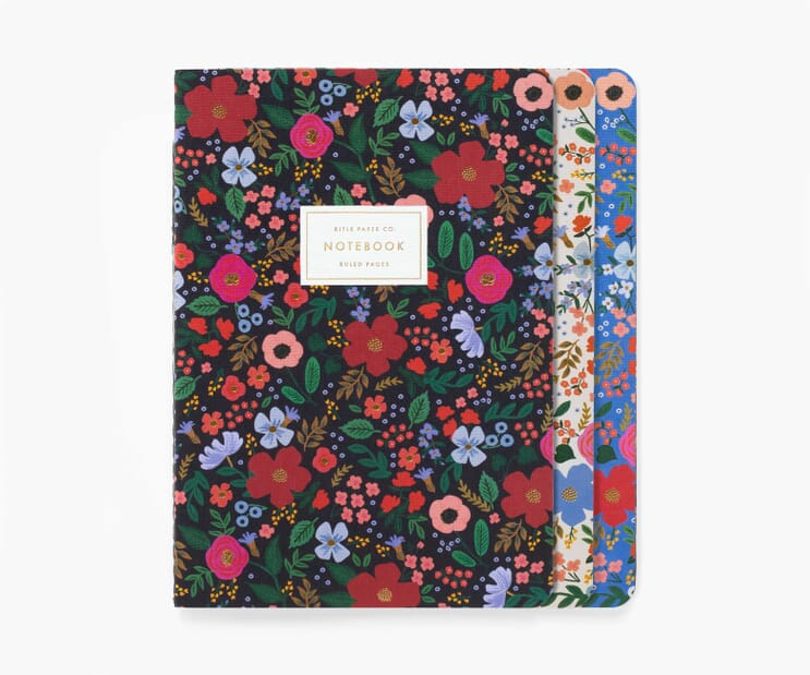 Wild Rose Stitched Notebook Set