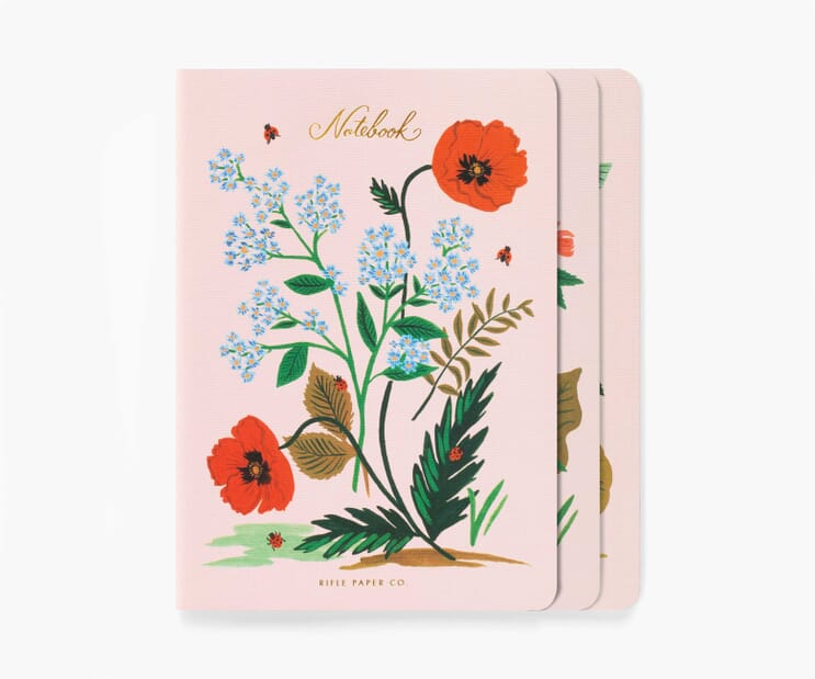 Botanical Stitched Notebook Set