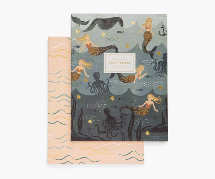 Mermaid Blank Notebook Set
