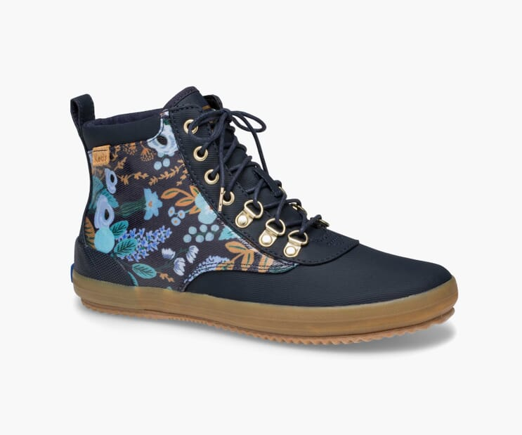 Navy Garden Party Scout Boot