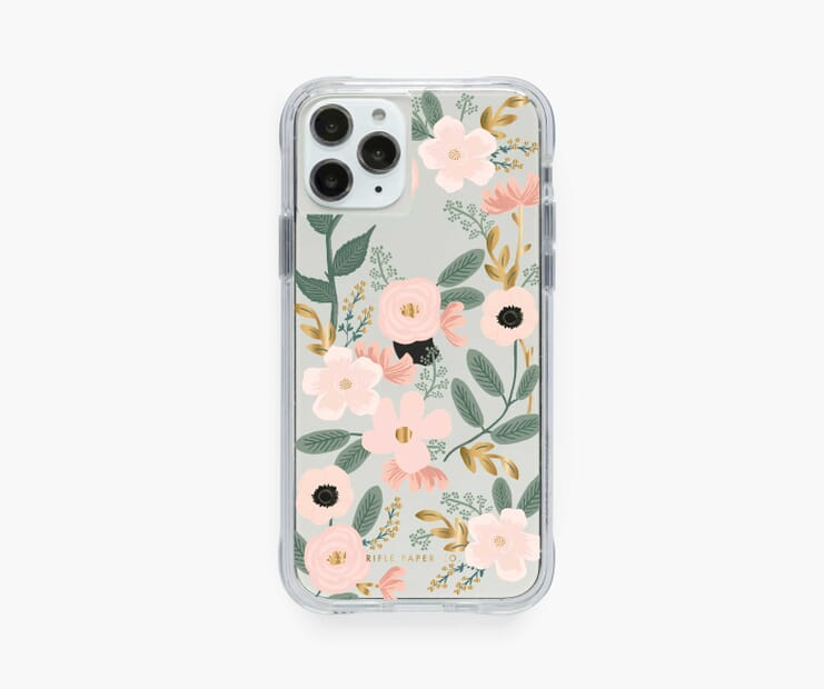 Clear Wildflowers iPhone Case