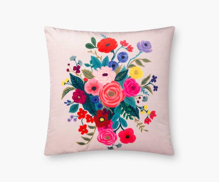 Juliet Rose Velvet Pillow- Blush