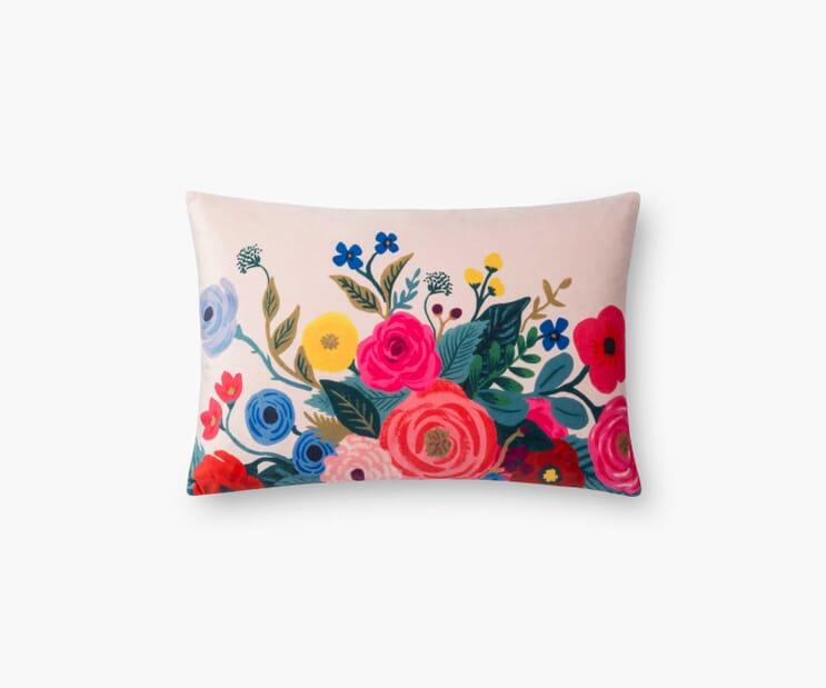 Juliet Garden Velvet Pillow-Blush