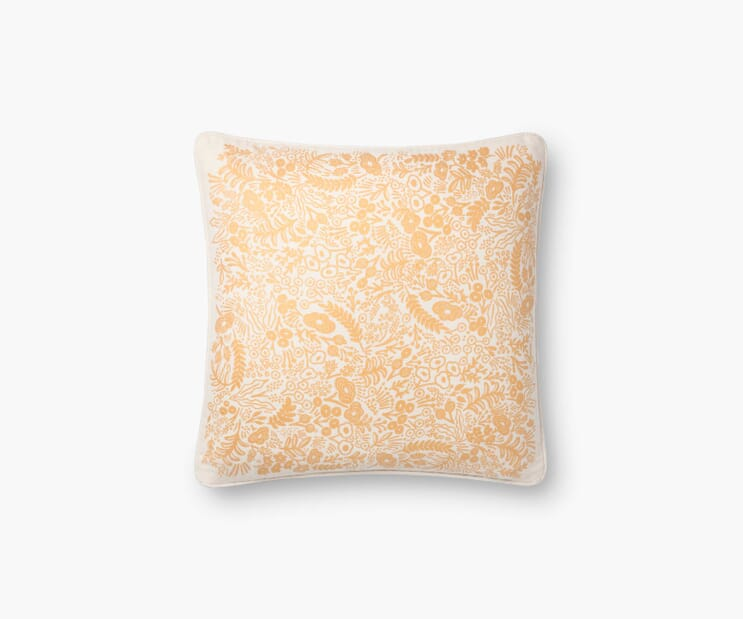 Gold Tapestry Pillow-Ivory