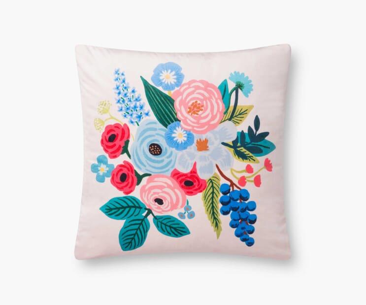 Garden Party Velvet Pillow-Blush