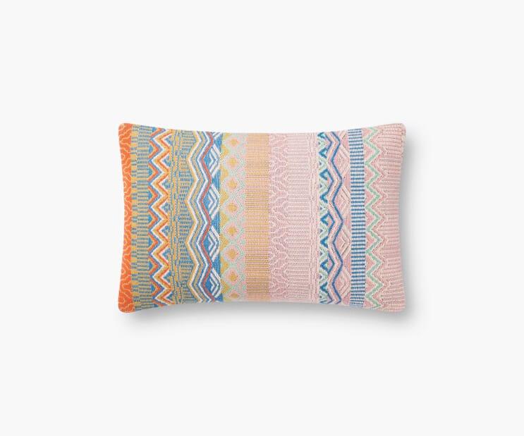 Mérida Woven Lumbar Pillow-Multi