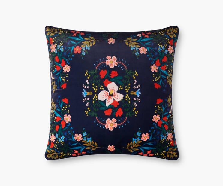 Luxembourg Velvet Pillow- Navy