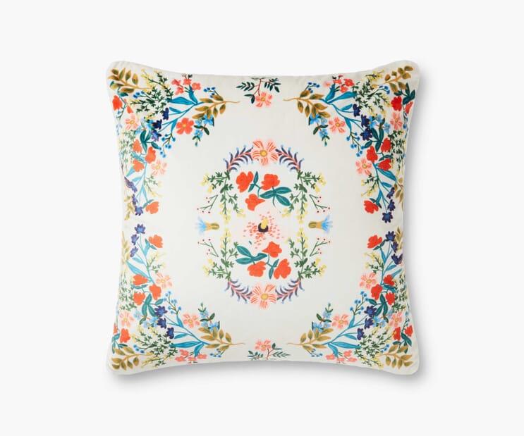 Luxembourg Velvet Pillow- Cream