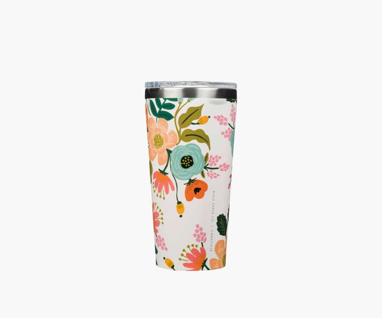 Lively Floral Cream Tumbler