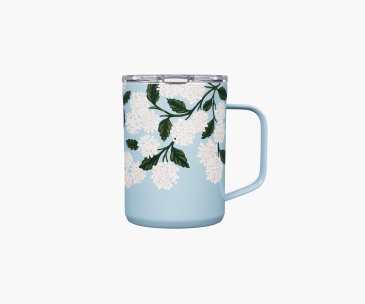 Rifle blue hydrangea insulated mug