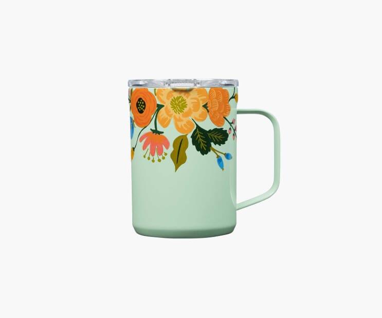 Lively Floral Mint Mug