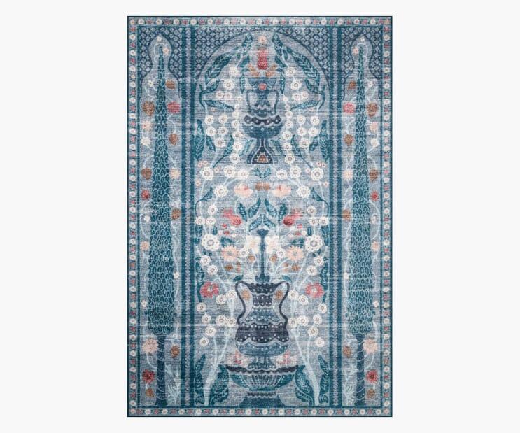 Terrace Blue Printed Rug