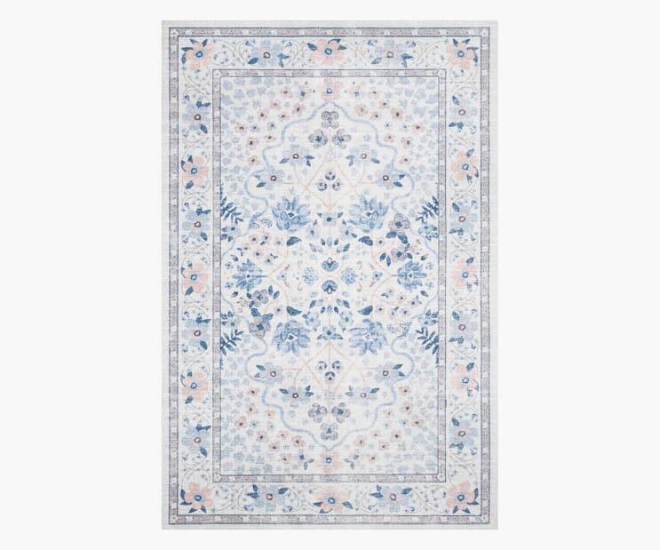 Meadow Snow Printed Rug