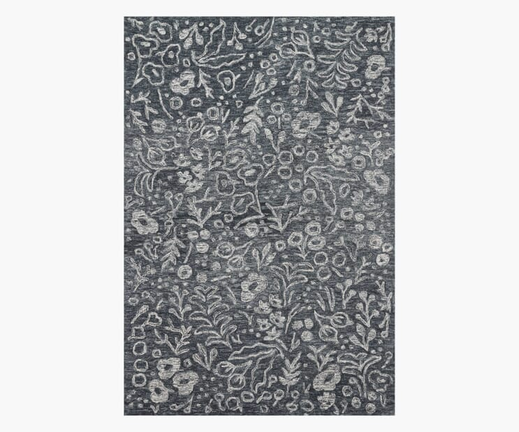Marion Charcoal Wool-Hooked Rug