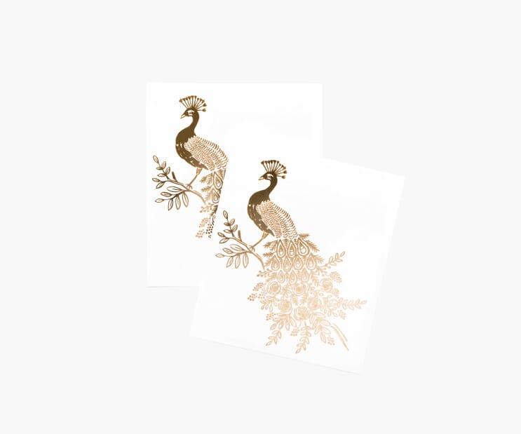Gold Peacock Tattoos